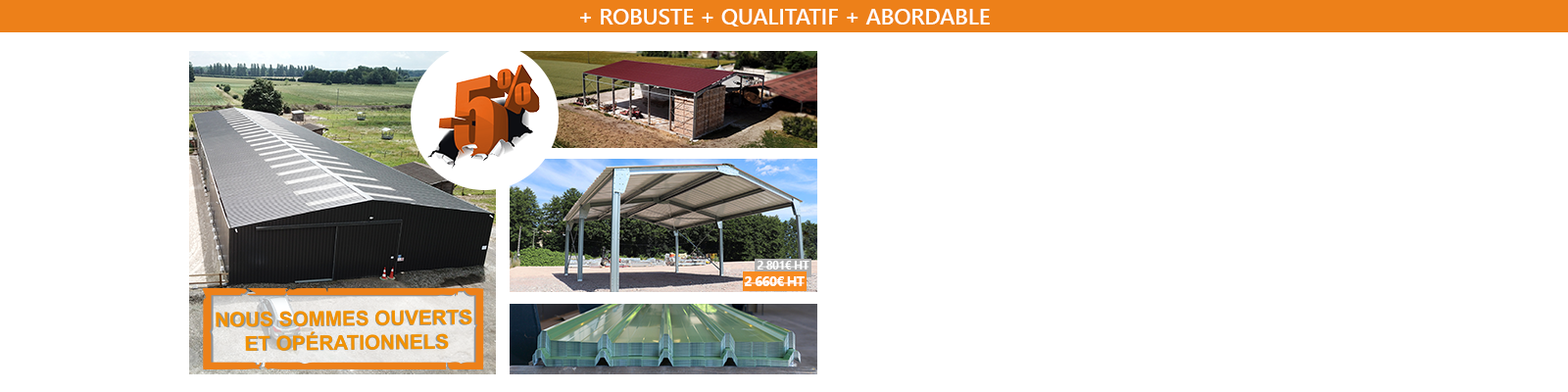 Bâtiments Galva Agricoles & Industriels en promo !