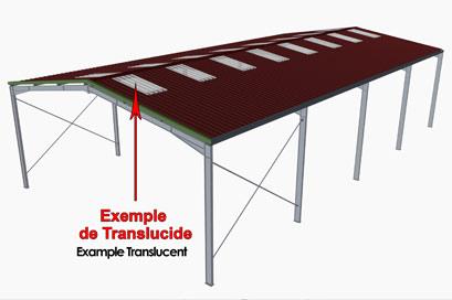 Building translucent roof panels
